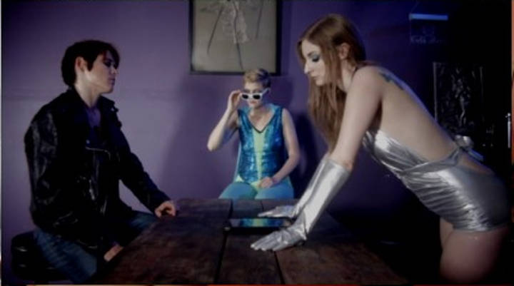 Heartbreaker, Ice Queen and Specs plan how to defeat the evil Obscura